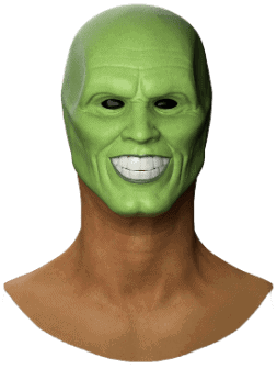 realistic Jim Carrey mask